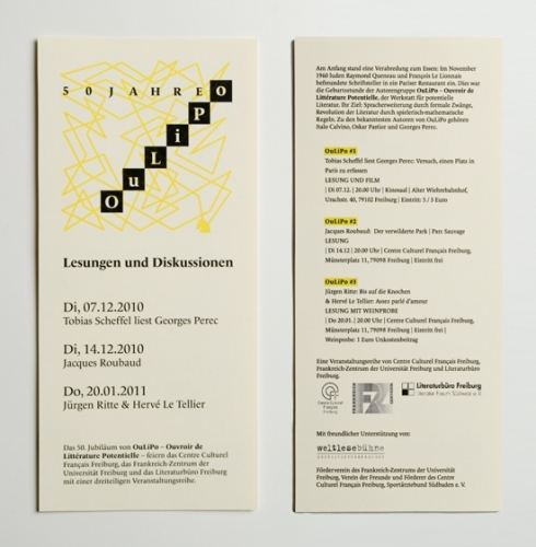 50 Jahre OuLiPo