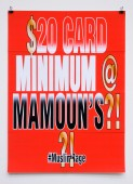 $20 CARD MINIMUM@ MAMOUN'S?!?!
